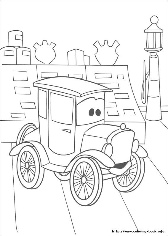 汽车总动员手绘图