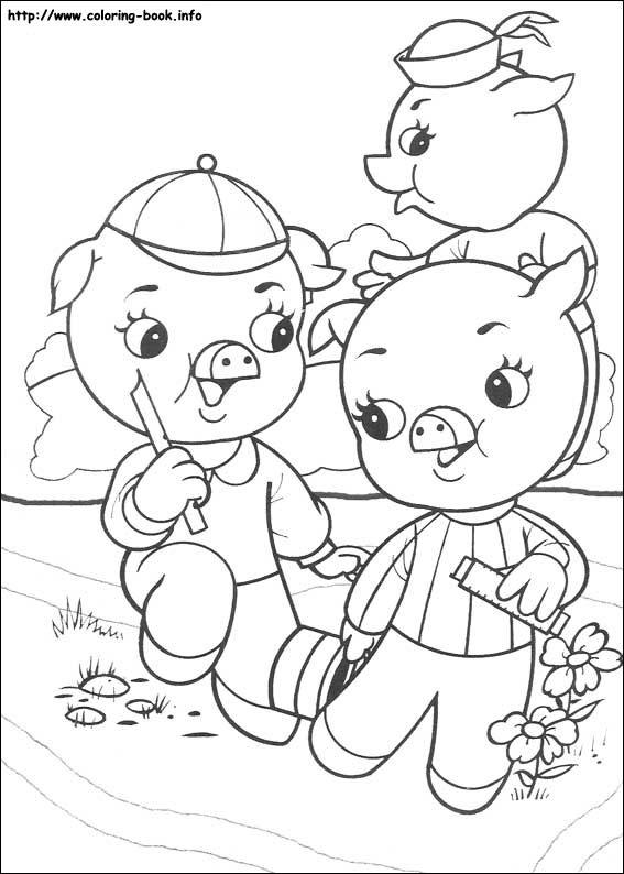 the three little pigs? ? 18个? ? 三只小猪图片